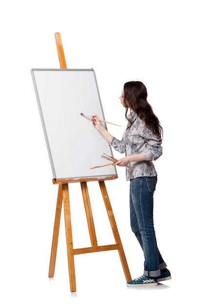виде художница картинка на белом фоне могут быть использованы