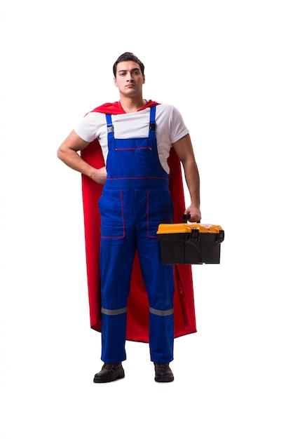 分離されたスーパーヒーローの修理 Premium写真