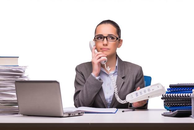 分離されたオフィスで若い実業家 Premium写真
