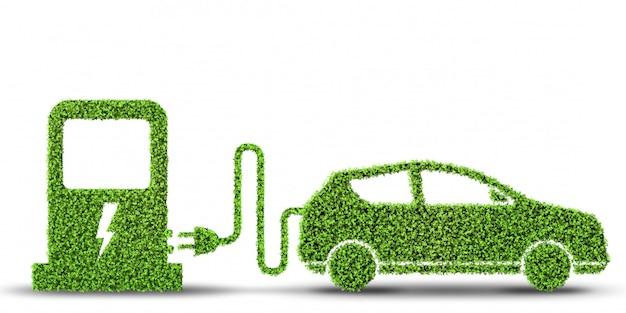 Концепция электромобиля Premium Фотографии