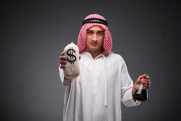灰色の背景に油でアラブ Premium写真
