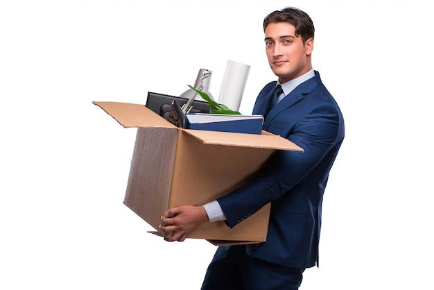 Бизнесмен уволен после увольнения Premium Фотографии