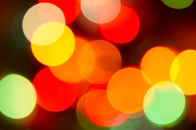 キラキラボケ色ライトデフォーカス背景 Premium写真