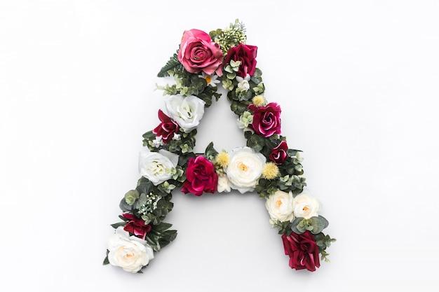 花の手紙花のモノグラム無料写真 無料写真