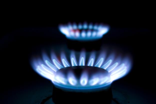 Голубое пламя Premium Фотографии