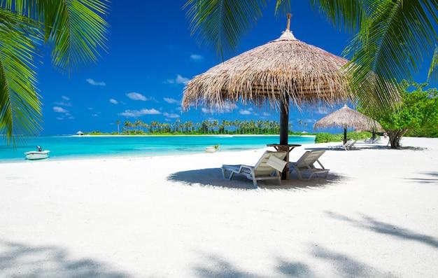 Пляж на мальдивах Premium Фотографии
