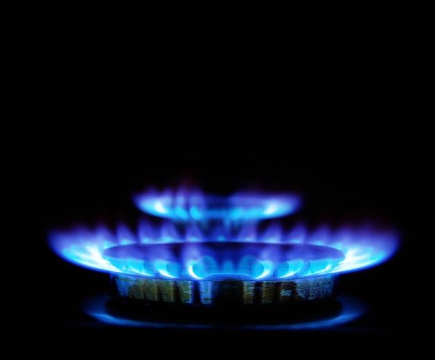 Газовый пожар Premium Фотографии