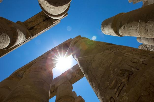 エジプト、ルクソール、カルナック神殿 Premium写真