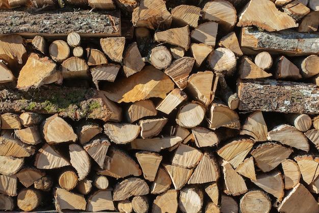 Фон из дров Premium Фотографии