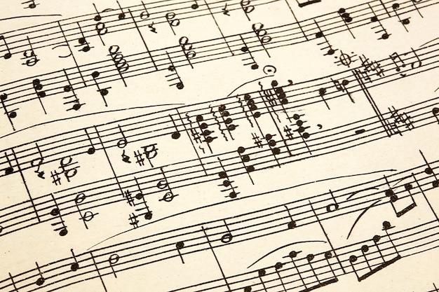 古紙とビンテージの楽譜 Premium写真