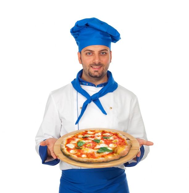 Пицца шеф Premium Фотографии