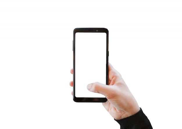カメラを携帯電話で使用する。 Premium写真