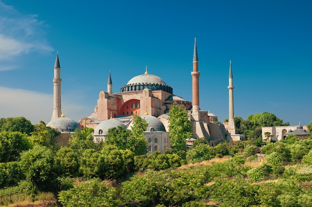 聖ソフィア大聖堂、イスタンブール、トルコ Premium写真