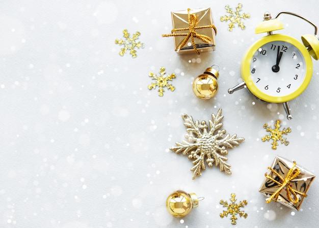 クリスマスの休日の背景 Premium写真