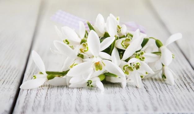 スノードロップの花束 Premium写真