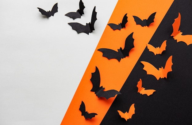 Хэллоуин летучих мышей фон Premium Фотографии