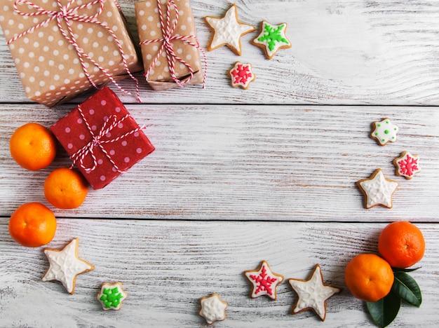 Рождественский праздник фон Premium Фотографии