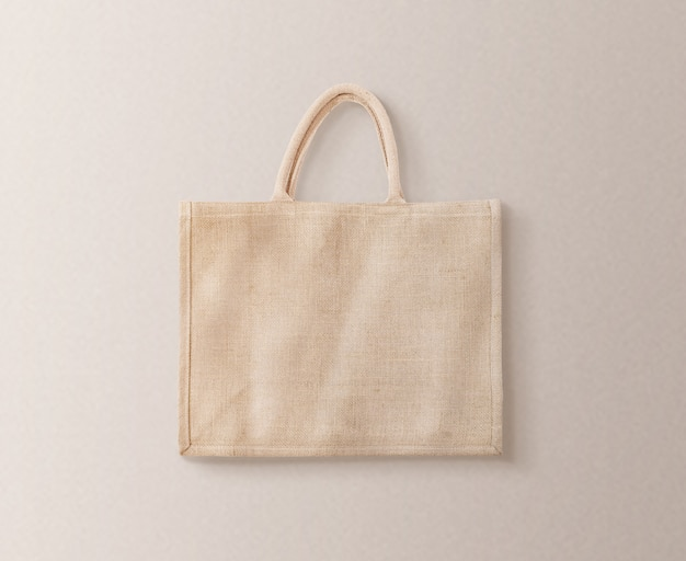 Эко-сумка из коричневого хлопка Premium Фотографии