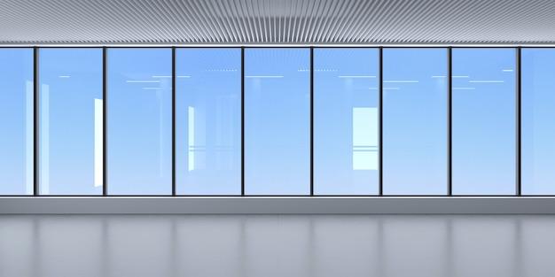 パノラマビューの窓と空の景色を望むモダンな客室 Premium写真