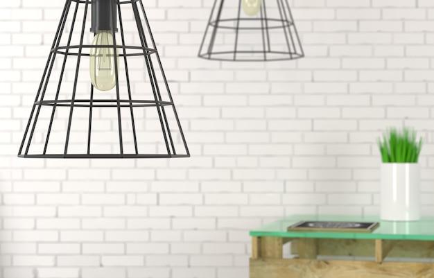 ワイヤーシャンデリアのクローズアップからランプ Premium写真