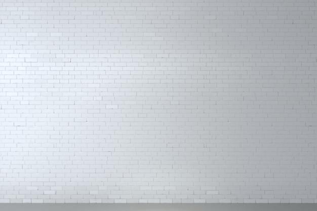 白いレンガ壁の背景 Premium写真