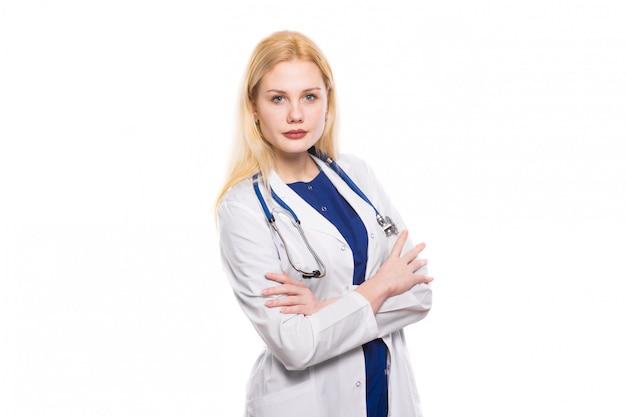 聴診器で女医 Premium写真
