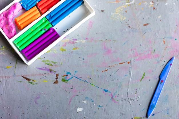 Цветной легкий глиняный пластилин для детей Premium Фотографии
