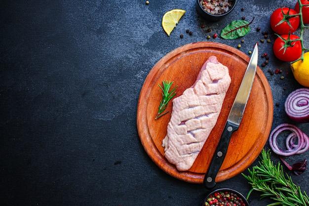 Мясо филе утиной грудки Premium Фотографии