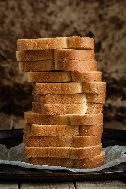 パンの白いスライス Premium写真