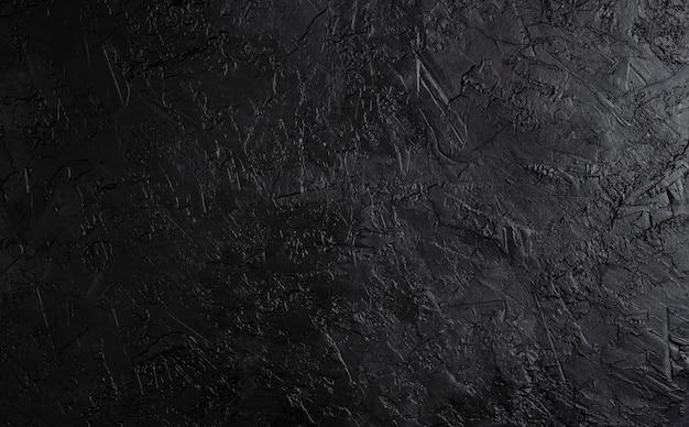 Черная каменная текстура, темный сланец фон, вид сверху Premium Фотографии
