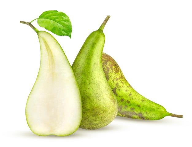 白で隔離される緑の会議梨 Premium写真