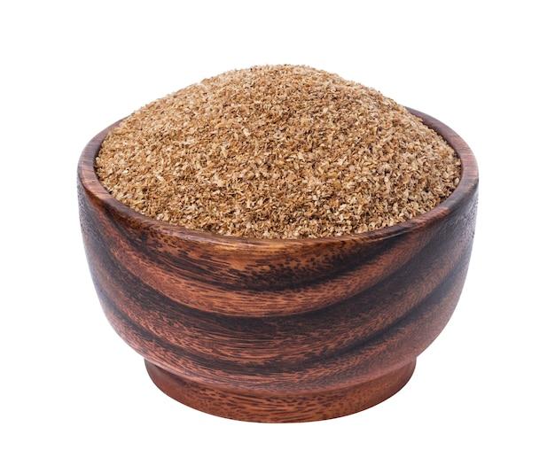 繊維食品、白で隔離される乾燥した地上繊維 Premium写真