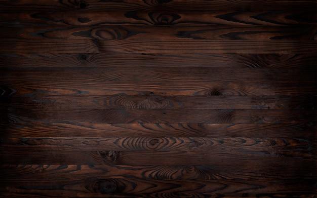 木製の背景、素朴な茶色の板テクスチャ、 Premium写真
