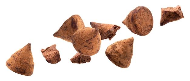 チョコレートトリュフキャンディー Premium写真