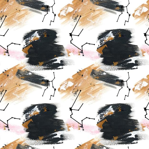 アクリルの黄道帯のしぶきパターン Premium写真