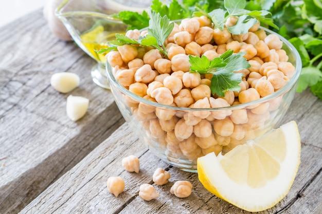 Хумус ингредиенты Premium Фотографии