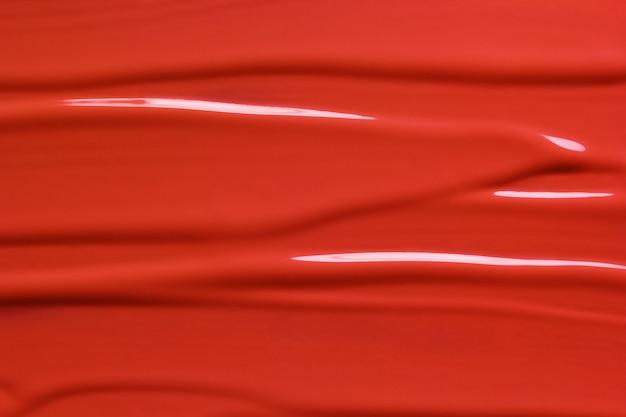 赤い液体口紅テクスチャ Premium写真