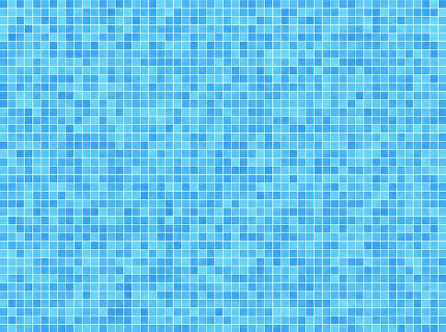 青いモザイクの背景 Premium写真
