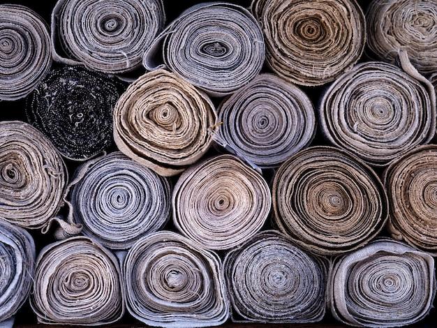 背景のロール布光天然布繊維 Premium写真