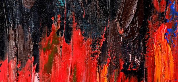 キャンバスにブラシストロークのカラフルなアートの抽象的な背景とテクスチャ。 Premium写真