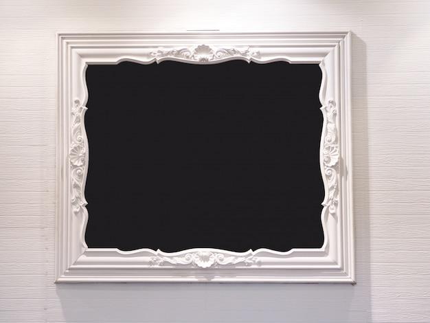 ホワイトウッドフォトフレームの抽象的な背景。 Premium写真