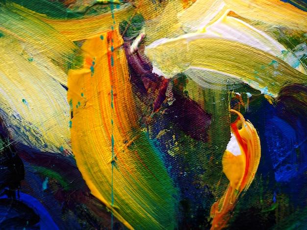 手描きの油絵。キャンバスに油彩画。抽象的な背景。 Premium写真