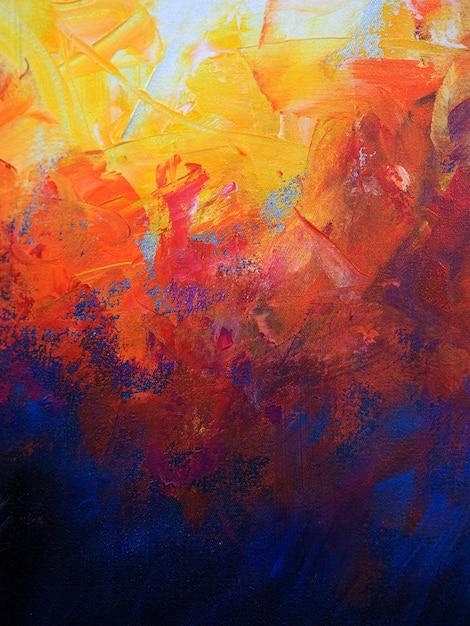 油絵の具の抽象的な背景 Premium写真