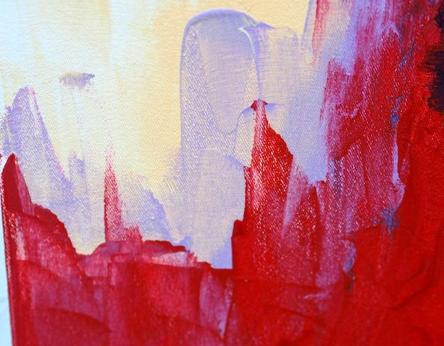 油絵の具カラフルな甘い色の抽象的な背景とテクスチャ。 Premium写真