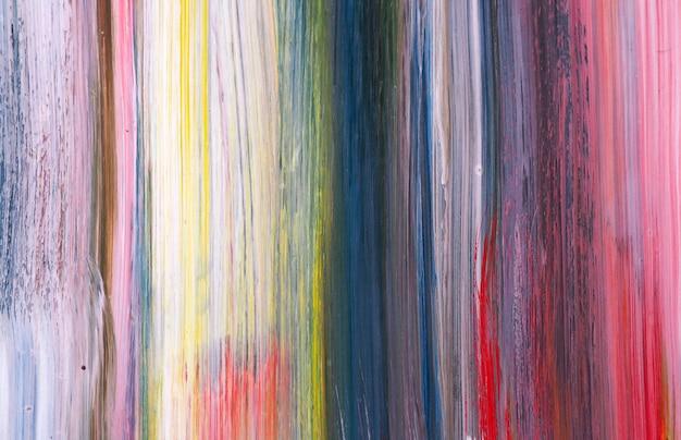 手描くカラフルな油絵の具の抽象的な背景とテクスチャ。 Premium写真