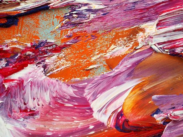 カラフルな油絵の具の動きの抽象的なテクスチャ。 Premium写真