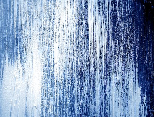 青い濃い油絵の具の抽象的な背景。 Premium写真
