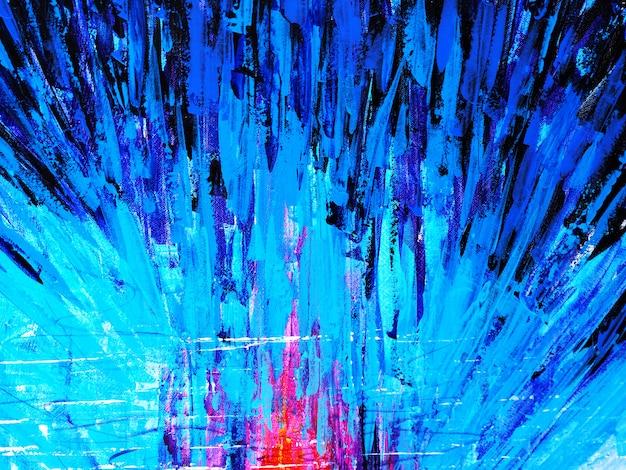 抽象的な背景と織り目加工のカラフルな油絵マルチカラー。 Premium写真