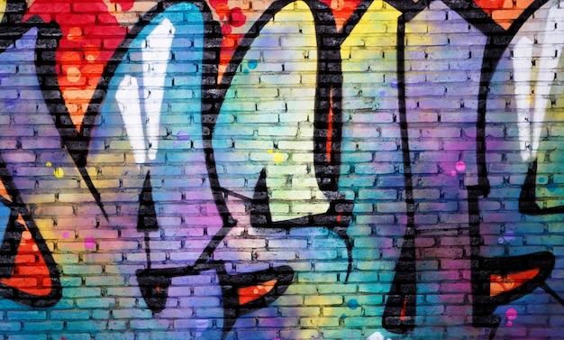 Граффити стены искусства масляной живописи абстрактный фон Premium Фотографии