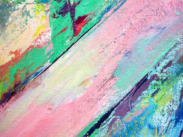 カラフルな色のペイントブラシ甘いオイルペイントの抽象的な背景。 Premium写真